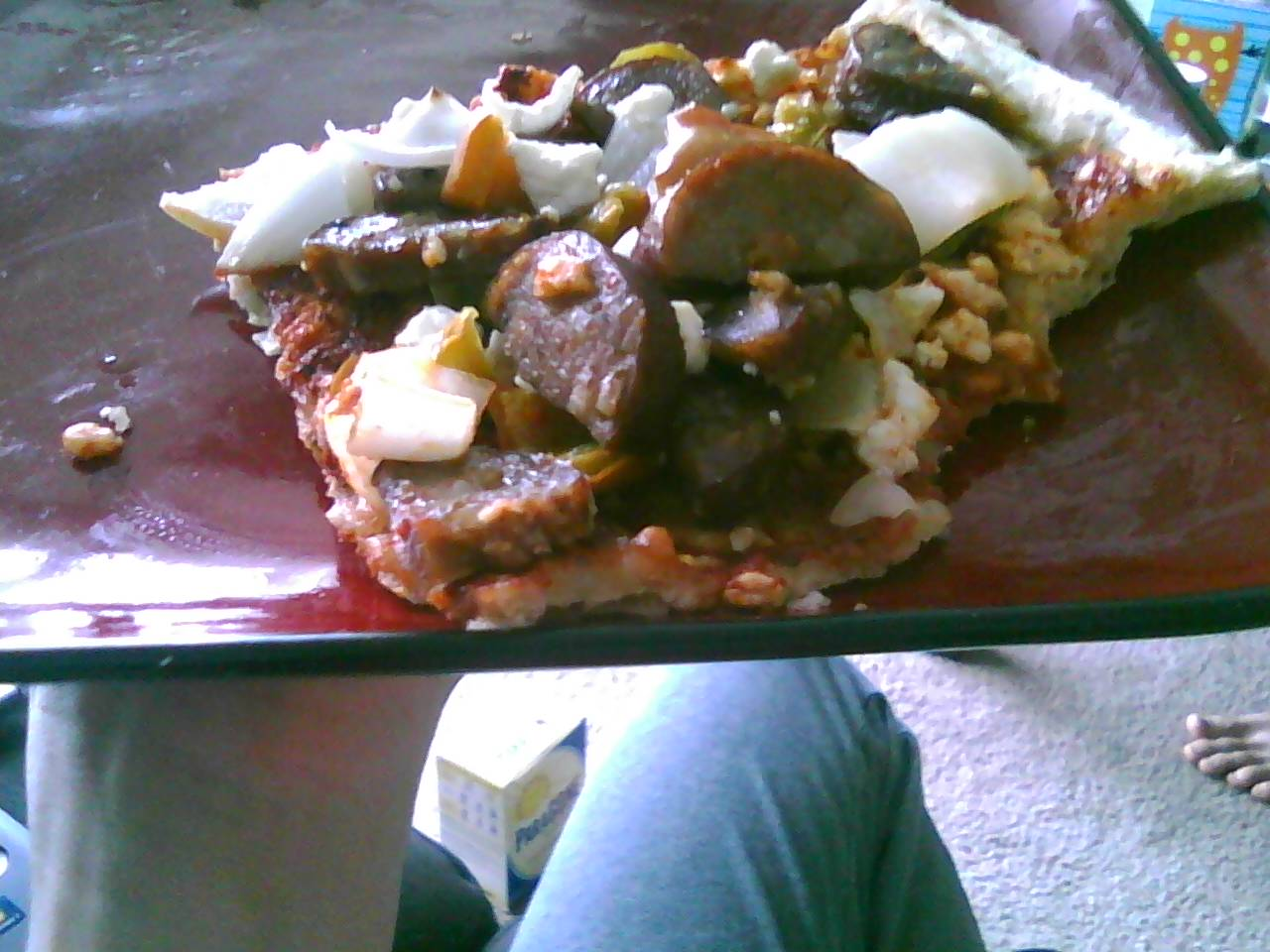 Soy free, gluten free pizza! By me =)