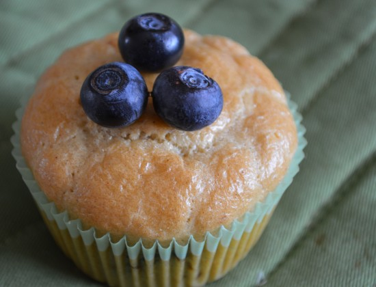 Almond Orange blueberry muffin 1